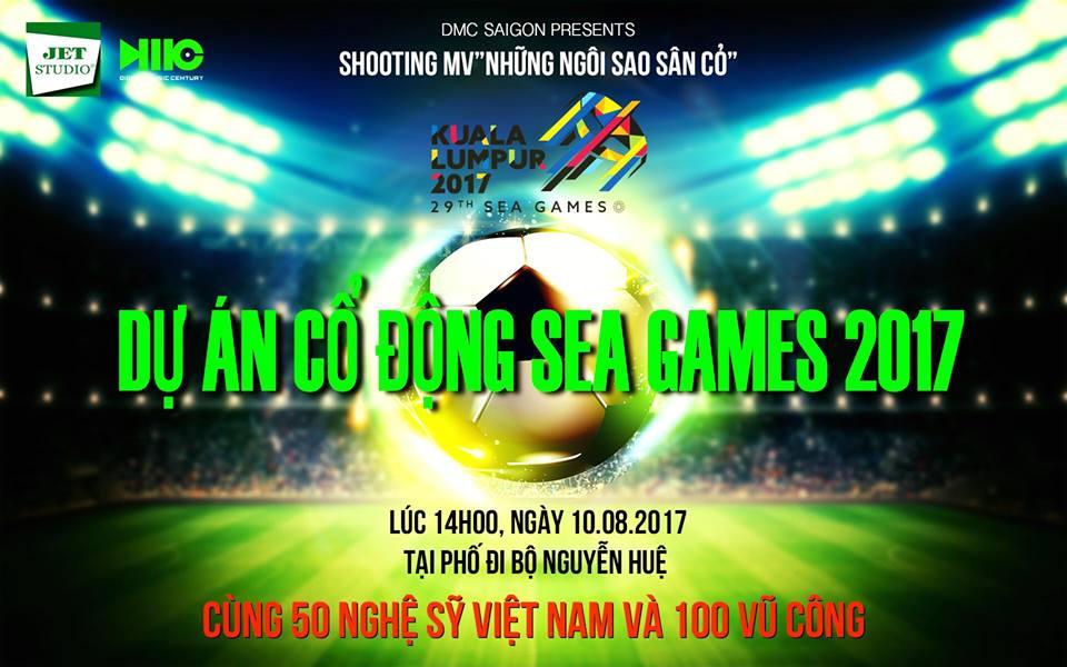 100 nghệ sĩ hát cổ vũ đội tuyển Việt Nam tại SEA Games 2017
